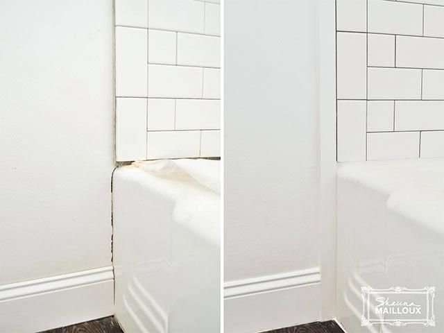 Subway Tiled Tub Surround Shower Trim Wall Panel Trims Tiling Our Bathroom Floors Diy Bathtub Walls Bathtub Wall Surround