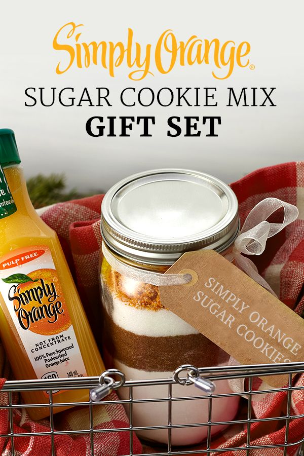 Here's a gift that's as thoughtful as it is delicious – the Simply Orange® Sugar Cookie Mix Gift Kit. The next time they host are craving something sweet, they'll have everything they need to make the right treat.