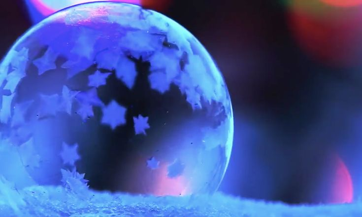 With recipe for freezing bubbles. These Viral Videos Of Bubbles Freezing Are So Mesmerizing & We Honestly Can't Look Away