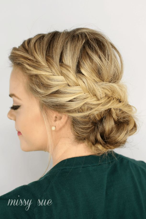 25 trending bridesmaid updo hairstyles ideas on pinterest fishtail braided updo is a perfect hairstyle for a night out i love to wear my hair in braids to work so i think with a smart blazer and clean cut pencil pmusecretfo Image collections