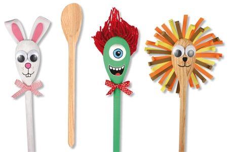 Fabriquez des marionnettes pour toutes les occasions avec un peu d'imagination et... UNE CUILLÈRE EN BOIS !