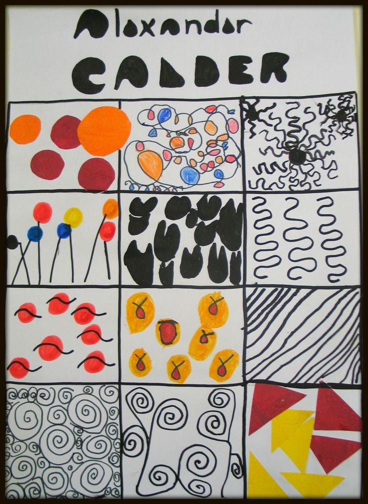 répertoire graphique d'après Calder