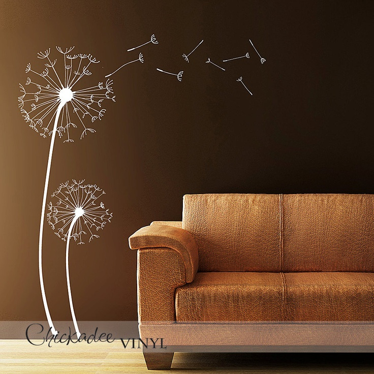 Dandelions Removable Vinyl Wall Decal By ChickadeeVinyl On Etsy Part 36