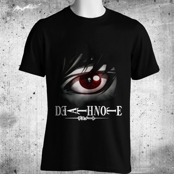 DEATH NOTE L Yagami Horror Anime Manga Series Black T-Shirt FREE SHIPPING