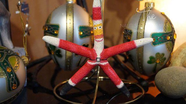 Handmade Starfish Christmas Ornament, White Finger Starfish Ornaments, Wholesale Ornaments for Christmas