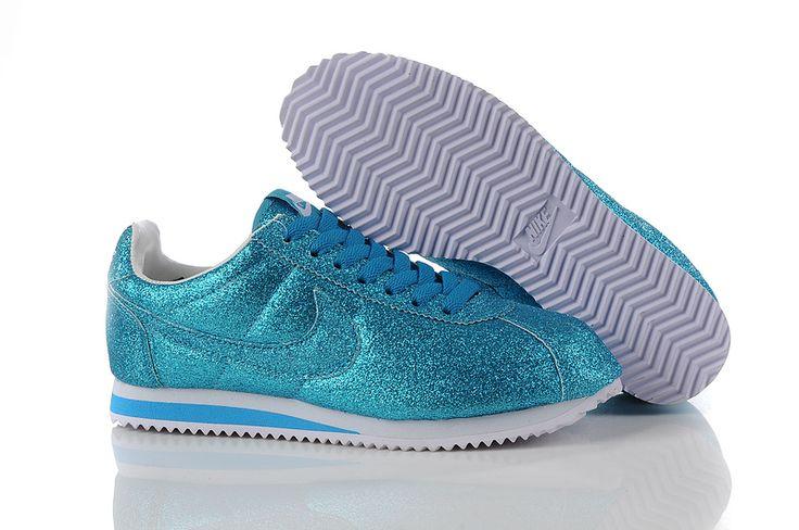 Authentic Nike Wmns Classic Cortez Nylon Women Blue White Casual Shoes