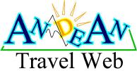 Andean Travel Web Logo - Home Page to Travel Information On South America.