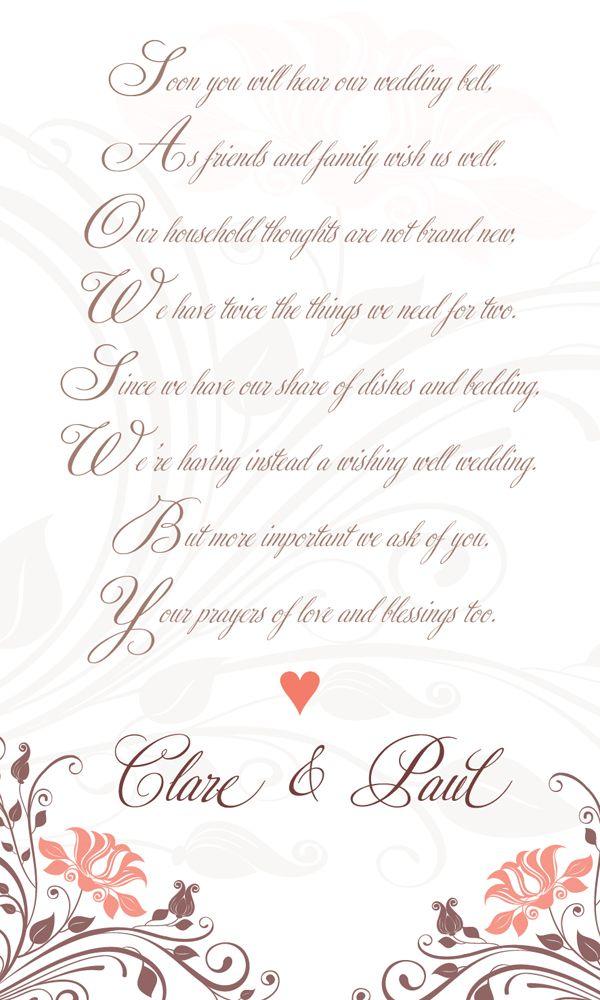 Wishing Well Poem For Wedding