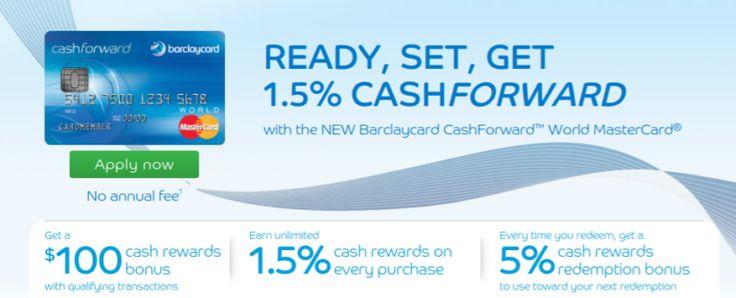 Barclay cashforward zero apr reward credit card terms