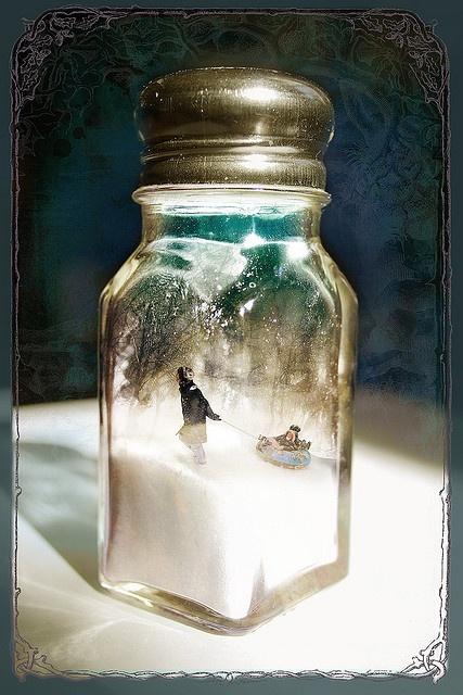 snow globe salt shaker
