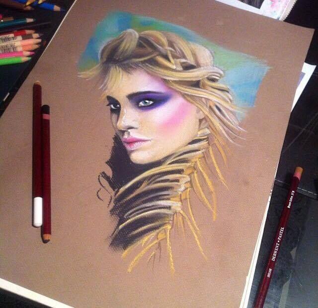 Jenifer Lee - Art  Pastel progress