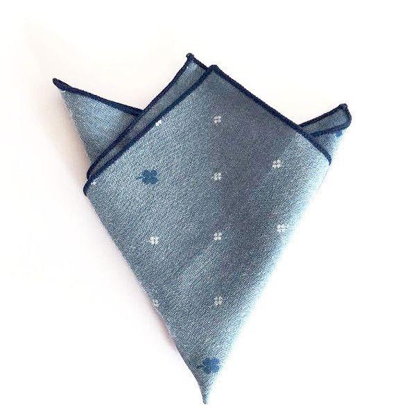 Feeling Blue Pocket Square