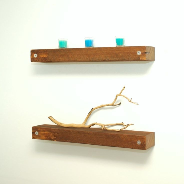 Floating reclaimed wood shelves by ChristopherOriginal on Etsy, $70.00