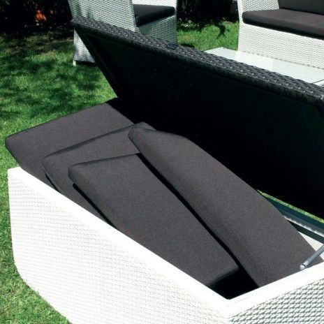 HIDE-IT, storage chest, aluminum frame, braided resin, waterproof, equipped with hydraulic cylinders
