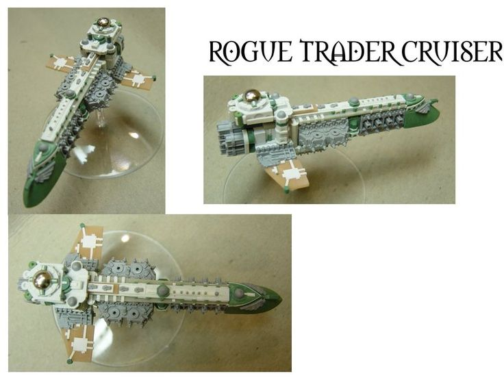 Rogue Trader cruiser for Forge World and Games Workshop's Battlefleet Gothic game.