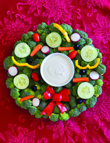 For a nutritious option on your holiday table, try cute-as-can-be Holiday Veggie Trays for kids.