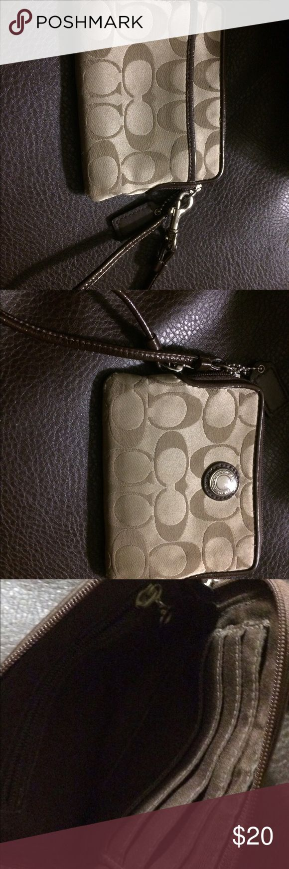 Coach mini wallet Mini Skinny Wallet in Signature Coated Canvas by Coach Coach Bags Wallets