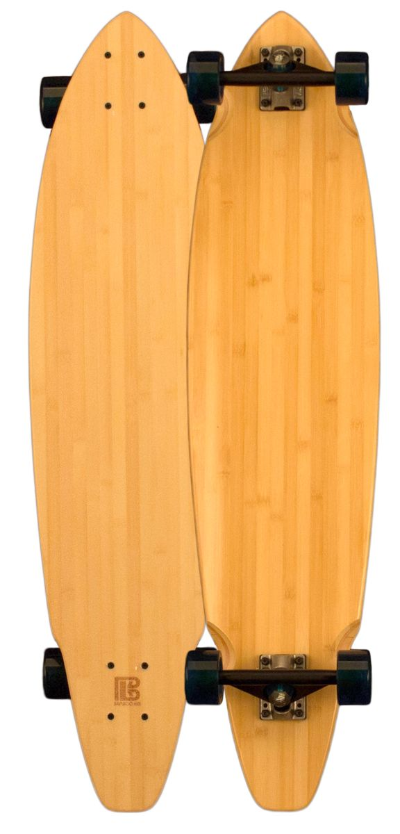 Bamboo Square Tail Blank Longboard