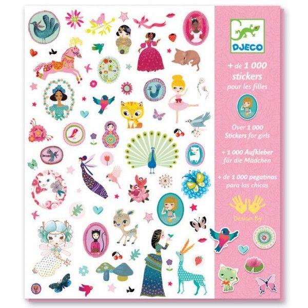 Super leuke stickerset - 1000 stickers voor meisjes - Djeco