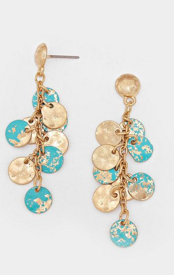 Golden Turquoise Patina Clusters