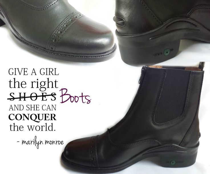 Black Montar field/jodhpur boot with zipper at front. www.staceyalexandra.com