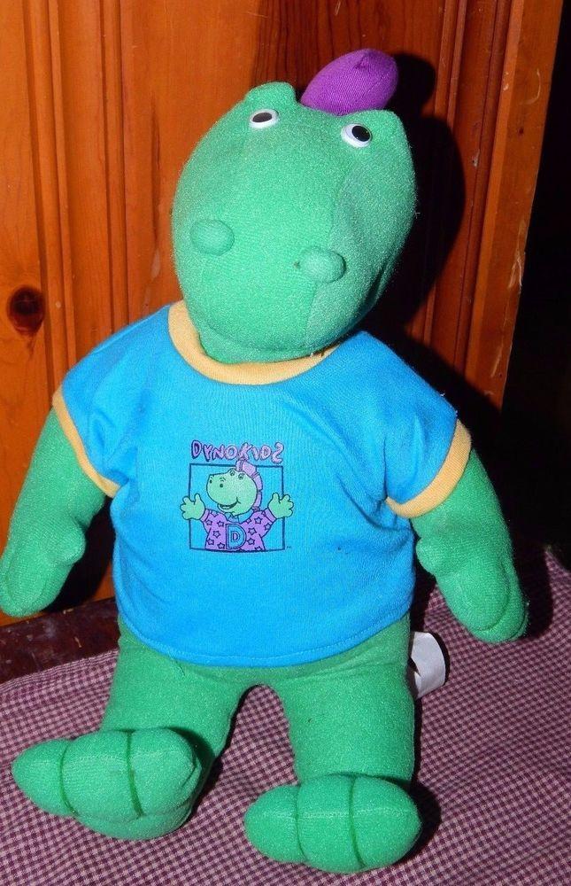 """15"""" Atco Vintage DynoKids Dyno Kids Dinosaur Dino Stuffed Plush Animal RARE GUC #Atco"""
