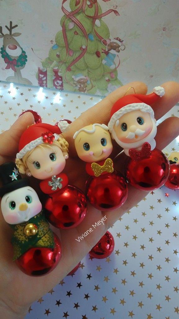 Bolinhas De Natal Manualidades Porcelana Fría Navidad Arcilla De Navidad