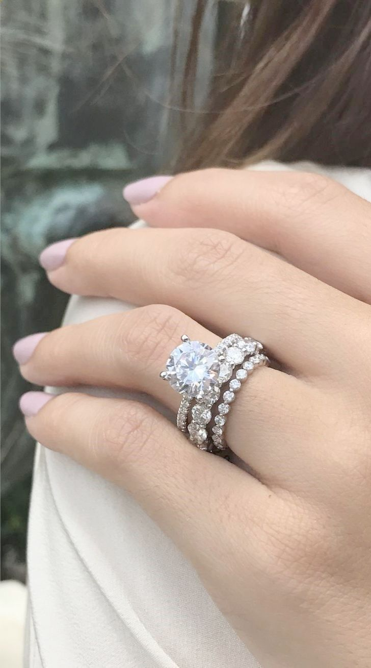Stunning Most Popular Engagement Rings 2018 Valuable Stacked Wedding Rings 3ct Engagement Ring Round Solitaire Engagement Ring