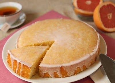 Pink Grapefruit Cake-ya I'd eat that!