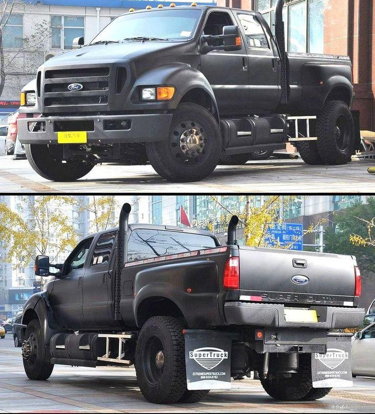 Matte black Ford F650. Half truck half 18-wheeler | Trucks ...