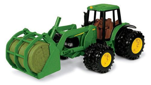 Ertl 15813 8 John Deere 7220 Tractor W/Bale Mover NEW Perfect for XMAS #Ertl #JohnDeere
