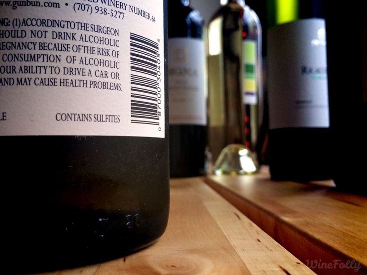 "Those little words ""Contains Sulfites"" on the bottom of a label often stir up concern. See how wine sulfites compare to other common foods you never considered."