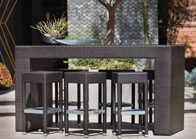 devonport 4 piece wicker patio conversation furniture set. outback company bordeaux all-weather wicker bar height patio dining set - seats 6 fitting your friends around the devonport 4 piece conversation furniture d