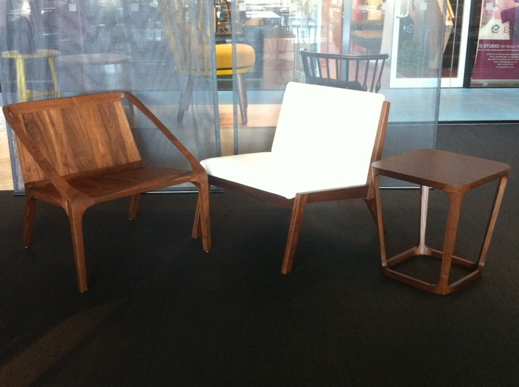 LOFT Lounge Chair, EDGE Lounge Chair and AREA Table - by Bernhardt Design - Available at KE-ZU.