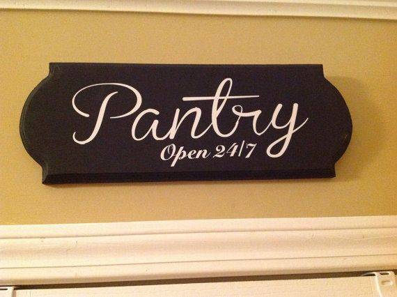 Large Pantry sign wooden sign kitchen decor wall by GAGirlDesigns, $24.00