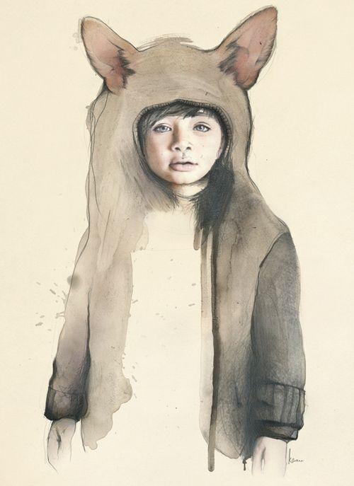 可愛的動物園畫作 – Kareena Zerefos