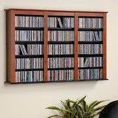 Found it at Wayfair - Floating Wall Mounted Triple Multimedia Storage Rack