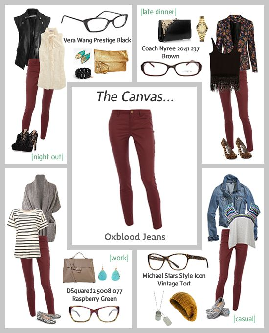 Okay, Oxblood Jeans and cream and gold sweater. What shoes/boots? Over the knee black suede boots? Pumps(what color?) Carmel boots? Flats? Help!