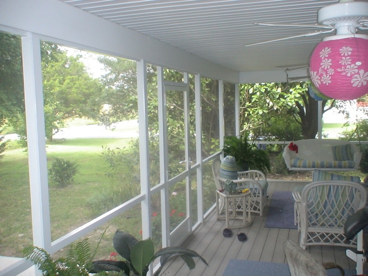 Relax In This Shady Covered Deck Free From Bugs And Hot Sun And Rain.