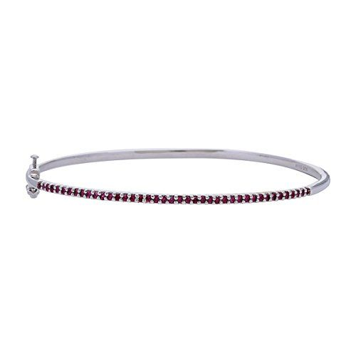 Diamond Addiction Genuine African Ruby Bangle *** Check out the image by visiting the link. (This is an Amazon Affiliate link and I receive a commission for the sales)