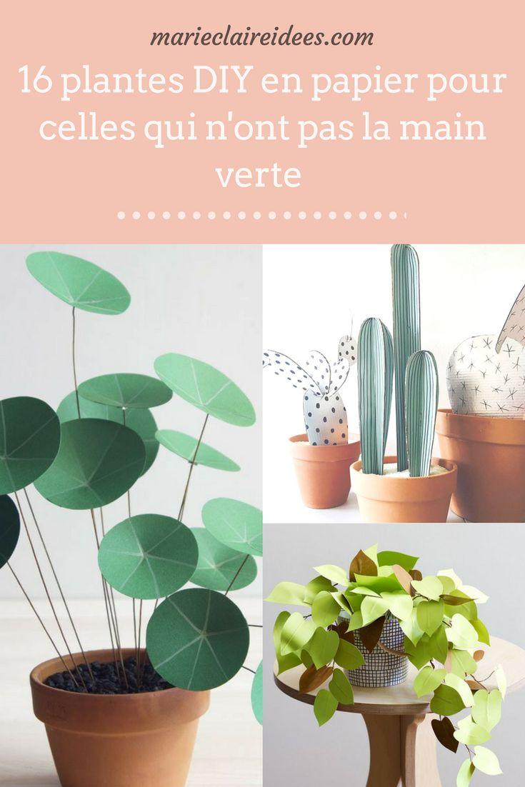 Vous aimez les plantes mais n'avez pas la main verte ?  On a la solution pour vous : les plantes en papier !