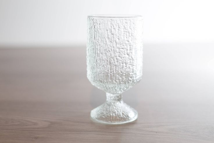 Vintage Icicle Glass / Frosty Scandinavian Finnish Style Frosted Finland Cocktail Glass / Mid Century Modern Ice Design Norwegian Glass by secondvoyagevintage on Etsy https://www.etsy.com/ca/listing/548620755/vintage-icicle-glass-frosty-scandinavian