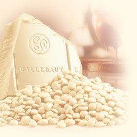 """Callebaut Belgian Chocolate, White Chocolate """"Chips"""", Chocolate Chips, 28.1% Cocoa, 2lb Repackaged"""