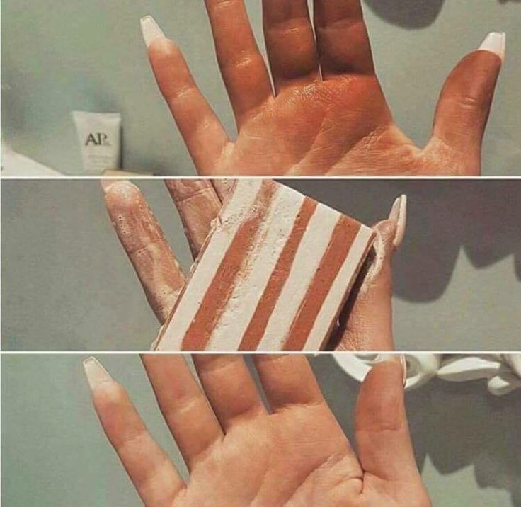 how to fix fake tan on hands