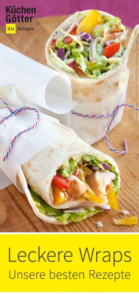 Wraps sind die Klassiker der Tex-Mex-Küche: Weiche Tortillafladen ...
