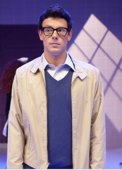 Cory Monteith as Finn Hudson, playing Rocky Horror Glee Show