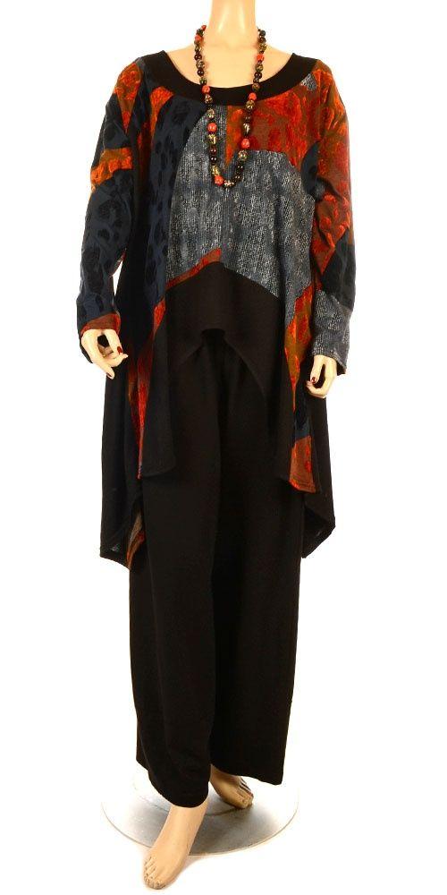 lagenlook clothing | Away Lagenlook Tunic-Sosan, lagenlook, womens plus size UK clothing ...