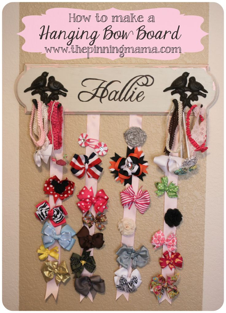 How To Make a Hanging Hair Bow Board (and how to use carbon paper to transfer letters)