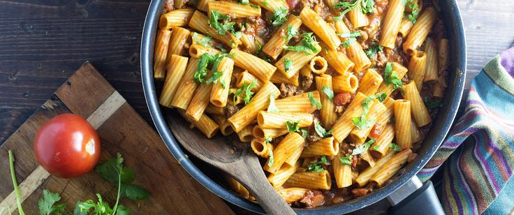 All the goodness of a taco in a cheesy pasta dinner that only requires one dish.