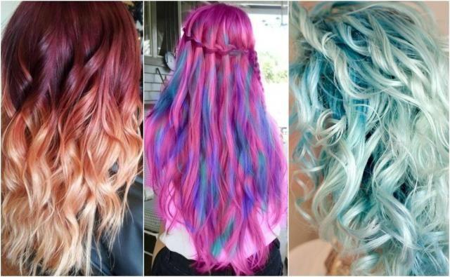 Jak wyróżnić się z tłumu dzięki fryzurze? Pomysły na różnokolorowe fryzury #kolorowe #włosy #fryzury